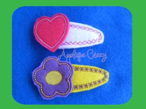 Flower & Heart Clippies (covers & felties)
