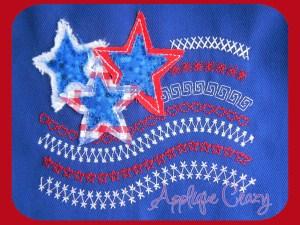 Stitchwork flag