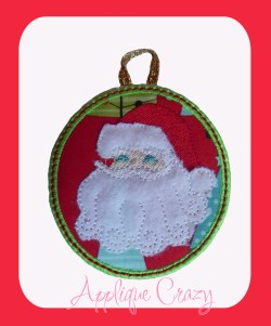 ITH Santa Ornament