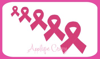 Awareness Ribbon Embroidery filled design