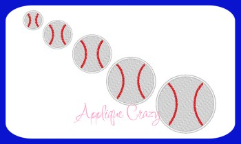 Baseball Embroidery filled design