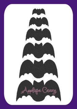 Bat Embroidery filled design