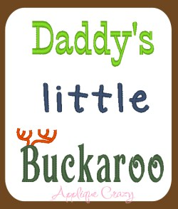 Daddy's little Buckaroo