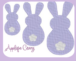 Bunny Embroidery filled design