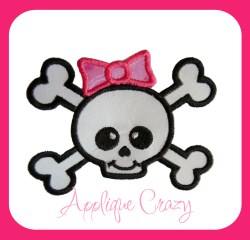 Crossbones with Hairbow