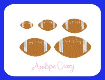 Football Embroidery filled design