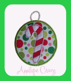 ITH Candy Cane Ornament