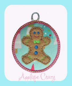 ITH Gingerbread man Ornament