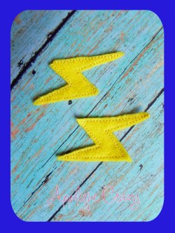 Lightning bolt feltie