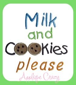 Milk and Cookies please