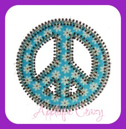 Vintage Stitch Peace Sign