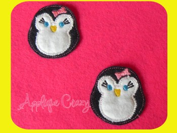 Girly Penguin feltie