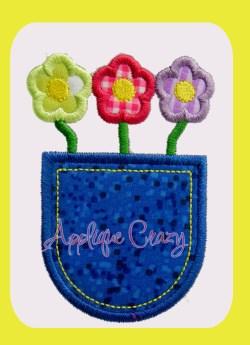 Pocket full of Flowers Satin design