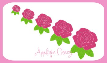 Rose Embroidery filled design