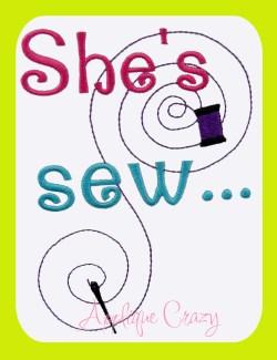 She's sew