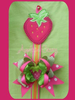 Strawberry Bow Holder