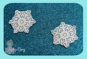 Snowflake feltie