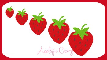 Strawberry Embroidery filled design