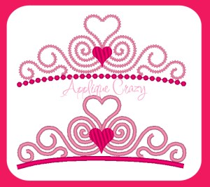 Tiara (Satin & Vintage stitch)